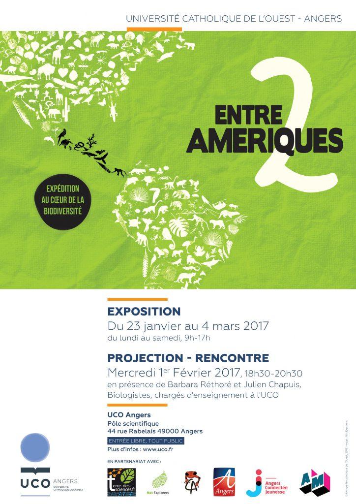 Entre Deux Amériques - Angers - UCO 2017 Affiche