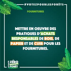 Zéro Empreinte Forêt - fournitures